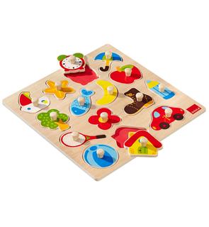 Puzzle en bois silhouettes