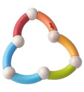 Hochet serpent multicolore de Haba