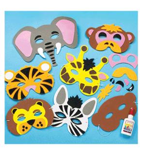 Kit de masques en mousse Les animaux de la jungle Baker Ross