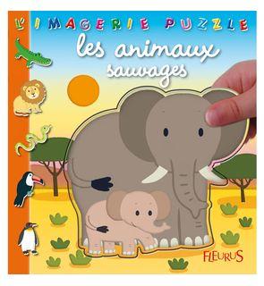 L'imagerie puzzle les animaux sauvages