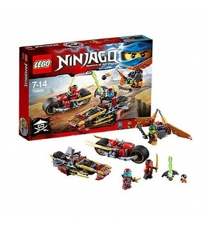 Ninjago - La poursuite en moto des Ninja - Lego