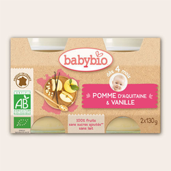 Petit Pot Pomme Vanille Bio de Babybio