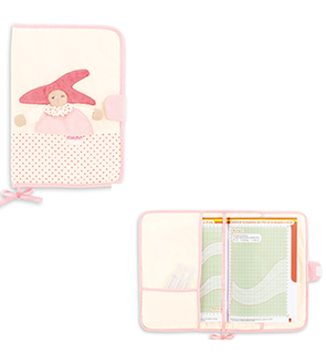 Protège carnet rose Corolle