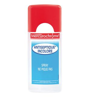 spray antiseptique incolore
