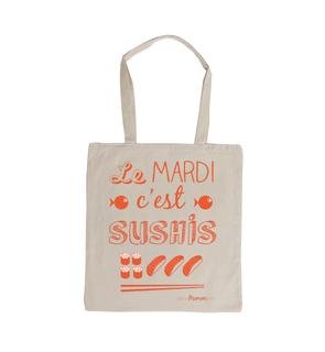 Tote Bag Le mardi c'est sushis