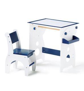 Bureau architecte bleu foncé
