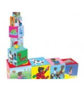 Cubes gigognes en carton petit ours brun