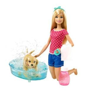 Sans Marque Poupée Barbie Barbie Et Son Chien à Lheure Du Bain