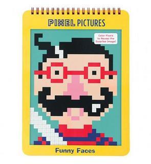 Livre De Coloriages Numerotes Pixel Pictures Visages Rigolos 18 Feuilles