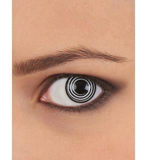 Lentilles de contact fantaisie spirale noire et blanche adulte