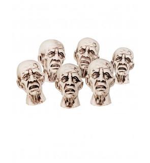 Décoration têtes de zombies 8 X 5 cm Halloween