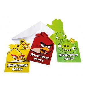6 invitations carton Angry Birds?