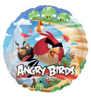 Ballon aluminium Angry Birds?