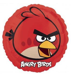 Ballon aluminium rouge Angry Birds?