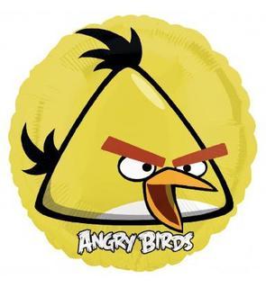 Ballon aluminium jaune Angry Birds?