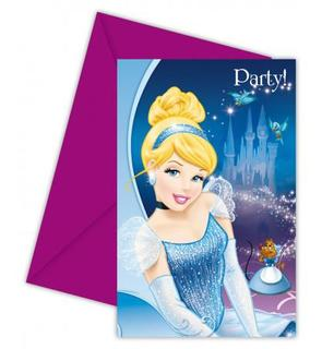 6 cartes invitation carton Cendrillon? avec enveloppes