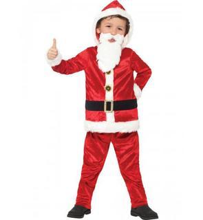 Déguisement Père Noël avec gros ventre et puce sonore enfant