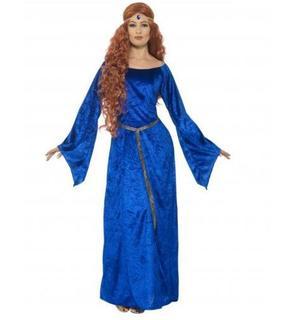 Déguisement médiévale bleue femme