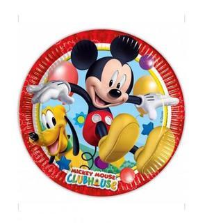 8 Assiettes en carton Mickey Mouse? 23 cm