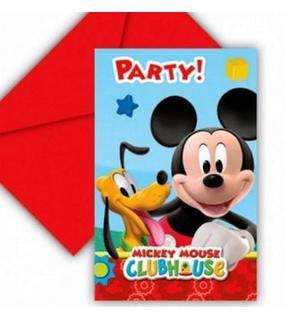 6 invitations carton Mickey Mouse?