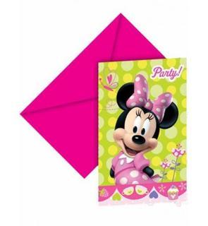6 invitations carton Minnie Bow-Tique?