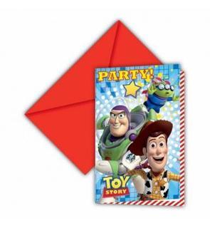 6 invitations carton Toy Story Star Power ?