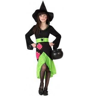 Déguisement sorcière verte fille Halloween
