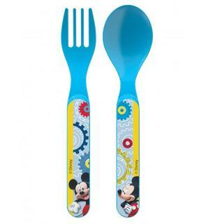 2 couverts en plastique Mickey?