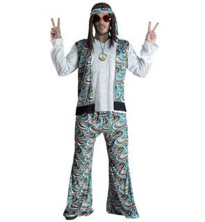 Déguisement hippie bleu psychédélique homme