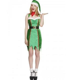 Déguisement elfe à grelots sexy femme Noël