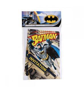 6 invitations Batman