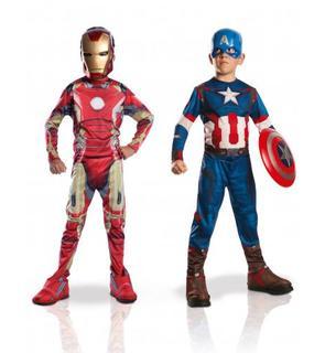 Pack déguisements enfant Iron Man + Captain America - Avengers 2? Coffret