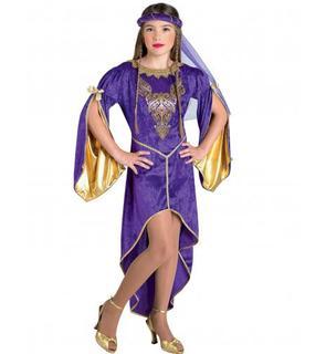 Déguisement princesse du trône violette fille