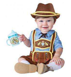 Déguisement mini bavarois pour bébé - Premium