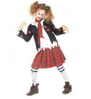 Déguisement écolière zombie fille