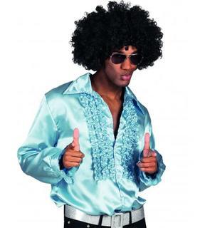 Chemise disco bleu clair homme