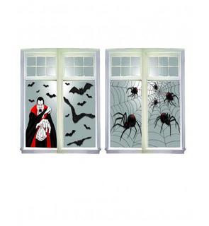 Décoration fenêtre thème Halloween
