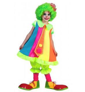 Déguisement clown fluo fille