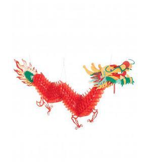 Décoration dragon rouge 2.5 m Nouvel an chinois