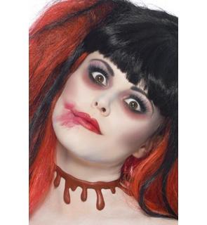 Ras de cou marques de sang adulte Halloween