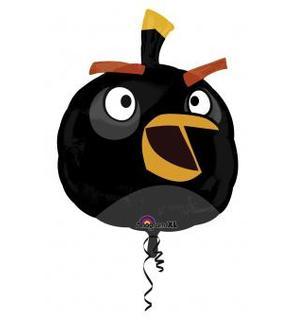 Ballon aluminum géant  Angry Birds? noir