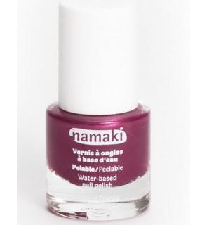 Vernis à ongles base eau pelable framboise 7,5 ml Namaki Cosmetics ©