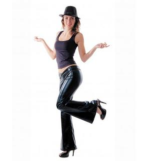Pantalon disco noir femme