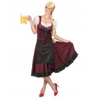 Déguisement robe bavaroise bordeaux femme
