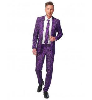 Costume tigre violet homme Suitmeister?