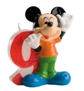 Bougie numéro 9 Mickey?