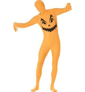 Déguisement seconde peau citrouille adulte Halloween