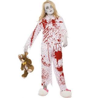 Déguisement zombie pyjama fille Halloween