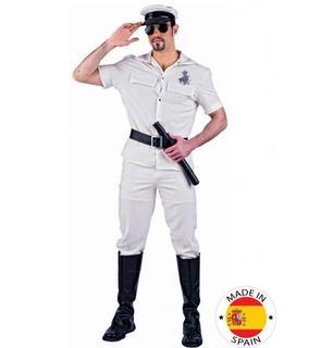 Déguisement Stripteaser Policier beige Sexy Homme