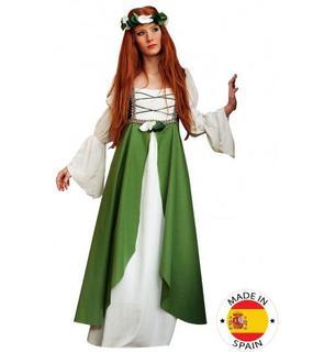 Déguisement Médiéval vert Femme